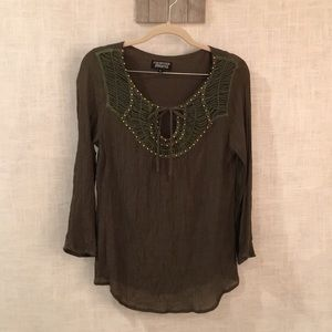 Papermoon green blouse size large
